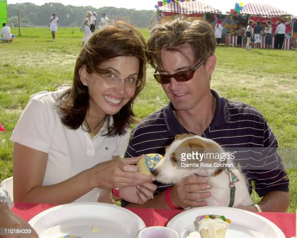 Desiree Gruber Kyle MacLachlan and Mookie during Super Saturday 6 for The Ovarian Cancer Research Fund at The Betty Crocker Sweet Tent at Nova's Ark...
