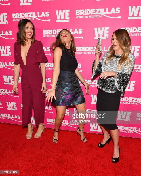 Desiree Hartsock DeAnna Pappas and Trista Sutter attend WE tv Launches Bridezillas Museum Of Natural Hysteria on February 22 2018 in New York City