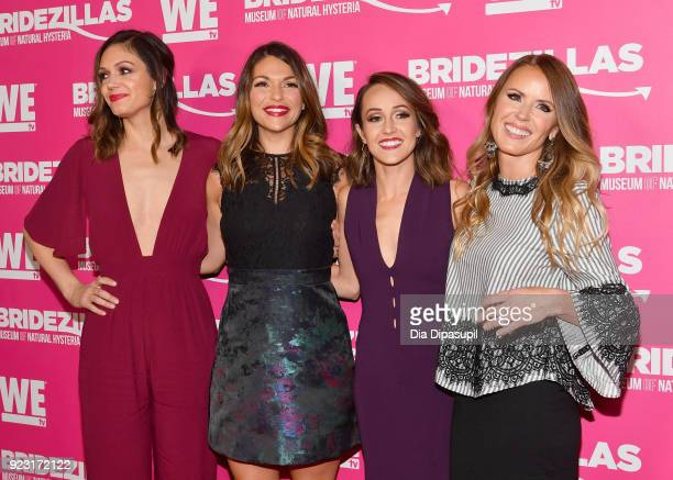 Desiree Hartsock DeAnna Pappas Ashley Hebert and Trista Sutter attend WE tv Launches Bridezillas Museum Of Natural Hysteria on February 22 2018 in...