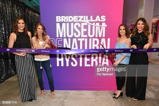 Desiree Hartsock, Trista Sutter, Ashley Hebert, and DeAnna Pappas attend the WE tv Bridezillas Museum of Natural Hysteria launch on February 22, 2018...