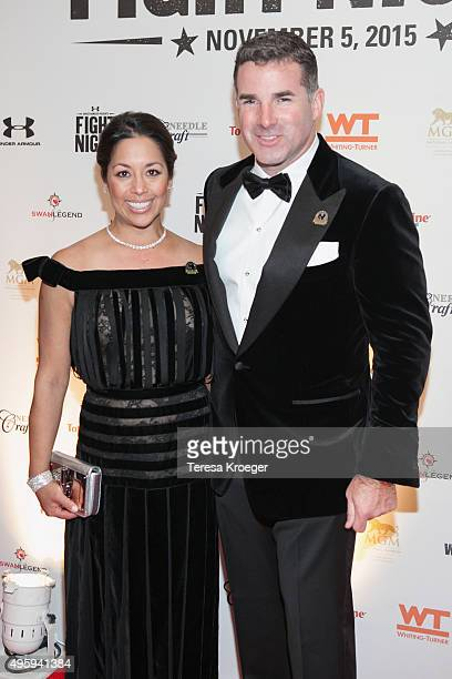 Desiree Jacqueline Guerzon and Under Armour CEO Kevin Plank attend Fight For Children's 26th Annual Fight Night at the Washington Hilton on November...
