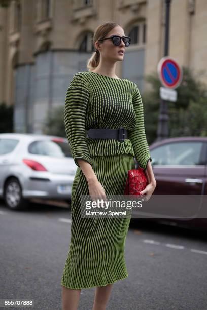 Desiree & Jennifer Selmanovic are seen attending Issey Miyake during Paris Fashion Week wearing Issey Miyake on September 29, 2017 in Paris, France.