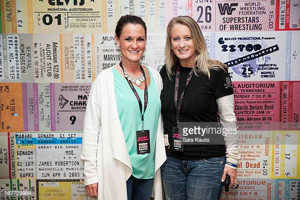 Desiree Maxwell and Kim Dettwiller Burton attend the St Jude Country Music Marathon and Half Marathon Post Race Concert presented by Nissan on April...