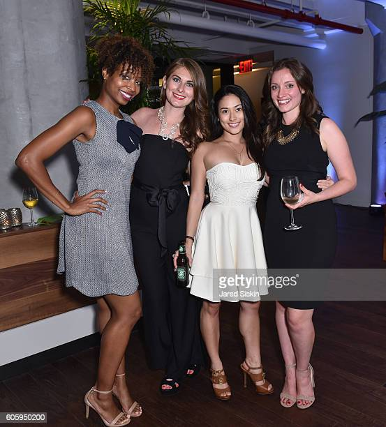 Desiree Mctear Katie Thurber Brittney Hill Christina Dolamore attend Austin Nichols House Launch Party at Austin Nichols House on September 15 2016...