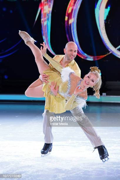 Desiree Nick Alexander Gazsi during a photo call for german Sat1 television show 'Dancing on Ice' at MMCStudios on January 4 2019 in Cologne Germany
