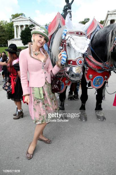 Karin MuellerWohlfahrt during the 'Sixt Damen Wiesn' as part of the Oktoberfest 2018 at Schuetzenfestzelt at Theresienwiese on September 24 2018 in...