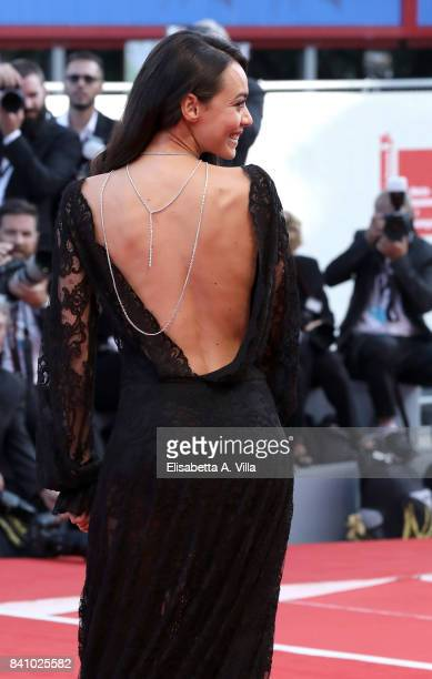 Desiree Noferini walks the red carpet ahead of the 'Downsizing' screening and Opening Ceremony during the 74th Venice Film Festival at Sala Grande on...