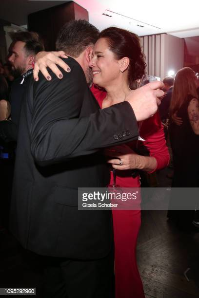 Desiree Nosbusch and her husband Tom Alexander Bierbaumer during the Berlin Opening Night by GALA UFA Fiction at hotel Das Stue on February 7 2019 in...
