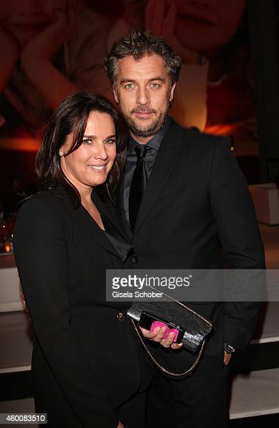 Desiree Nosbusch and her partner attend the Ein Herz fuer Kinder Gala 2014 after show party at Tempelhof Airport on December 6 2014 in Berlin Germany