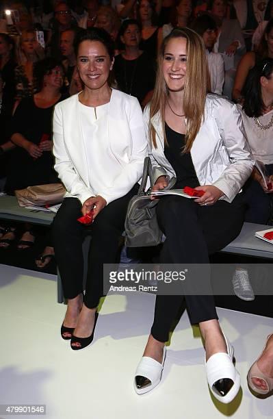 Desiree Nosbusch and Luka TeresaGerda Kloser attend the Minx by Eva Lutz show during the MercedesBenz Fashion Week Berlin Spring/Summer 2016 at...