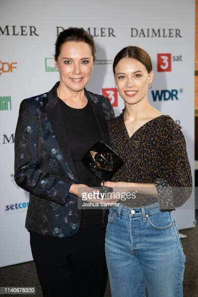 Desiree Nosbusch and Paula Beer attend the annual Grimme Award on April 05 2019 in Marl Germany