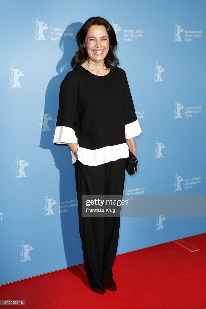 Desiree Nosbusch attends the 'Bad Banks' premiere during the 68th Berlinale International Film Festival Berlin at Zoo Palast on February 21, 2018 in Berlin, Germany.