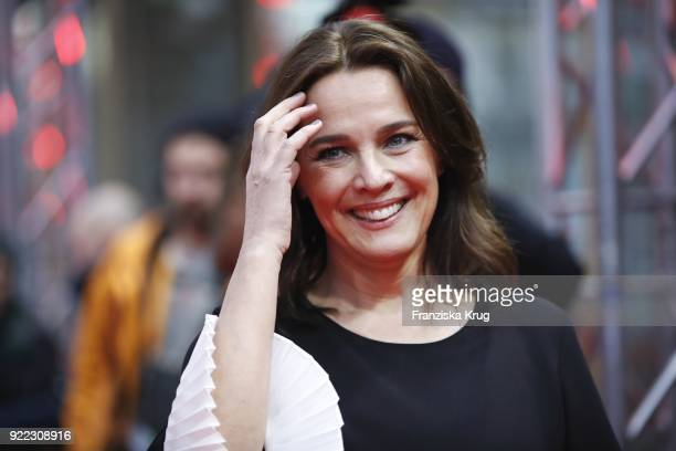 Desiree Nosbusch attends the 'Bad Banks' premiere during the 68th Berlinale International Film Festival Berlin at Zoo Palast on February 21 2018 in...
