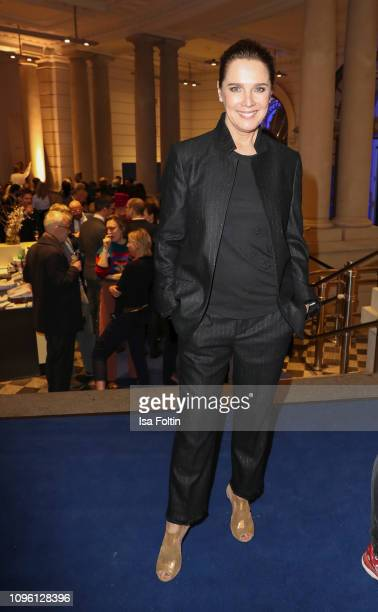 Desiree Nosbusch attends the Blue Hour Party hosted by ARD during the 69th Berlinale International Film Festival at Haus der Kommunikation on...