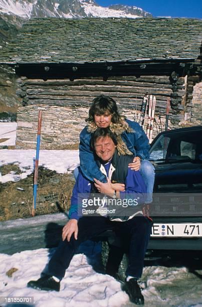 Desiree Nosbusch Lebensgefährte Georg Bossert Skiurlaub St Moritz Schweiz Auto Ski Skier Ferien Schnee Lebensgefährtin Winter Winterurlaub...
