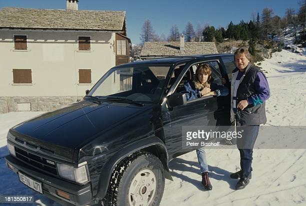 Desiree Nosbusch Lebensgefährte Georg Bossert Skiurlaub St Moritz Schweiz Auto Ferien Schnee Winter Winterurlaub Lebensgefährtin Moderatorin...