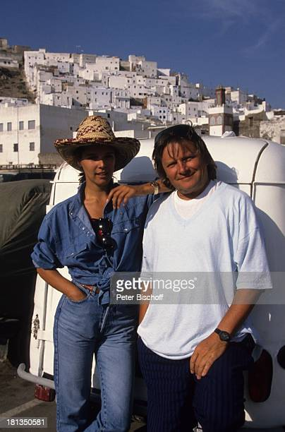 Desiree Nosbusch Lebensgefährte Georg Bossert Tanger Marokko Auto Jeans JeansHemd Hut Sonnenhut Urlaub Lebensgefährtin Schauspielerin Sängerin...