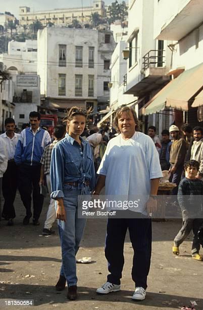 Desiree Nosbusch Lebensgefährte Georg Bossert Tanger Marokko Brille Sonnenbrille Uhr Armbanduhr Jeans JeansHemd Urlaub Lebensgefährtin Schauspielerin...