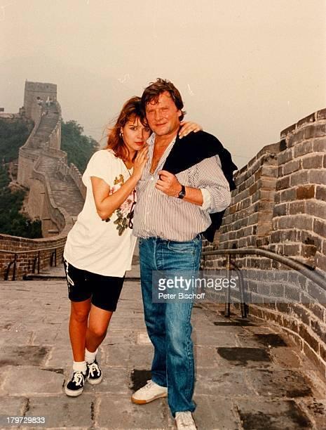 Desiree Nosbusch und Lebensgefährte Georg Bossert Asien China Chinesische Mauer Urlaub privat Freund Partner Moderatorin Schauspielerin Promis...