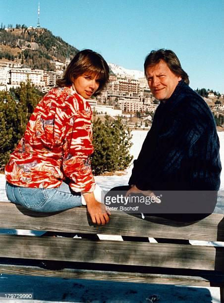 Desiree Nosbusch und Lebensgefährte Georg Bossert, ;Ski-Urlaub, St. Moritz, Schweiz , Europa, Urlaub, privat, Freund, Partner, Moderatorin,...