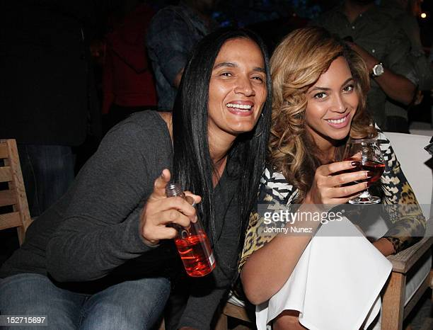 Desiree Perez and Beyonce attend the JayZ And Beyonce Summer Ends With D'USSE Cognac Cocktails Celebration at La Marina Restaurant Bar Beach Lounge...