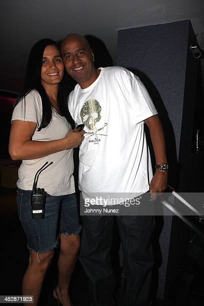 Desiree Perez and OG Juan attends the 2008 MLB AllStar Week's Alex Rodriguez party at the 40/40 Club on July 14 2008 in New York City