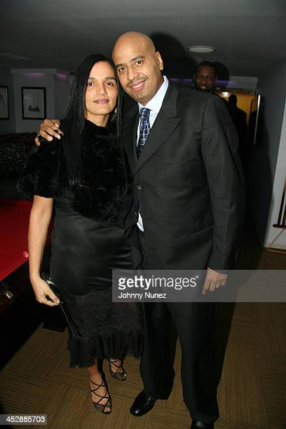 Desiree Perez and OG Juan during JayZ Celebrates the OneYear Anniversary of the 40/40 Club at 40 / 40 in Atlantic City New Jersey United States