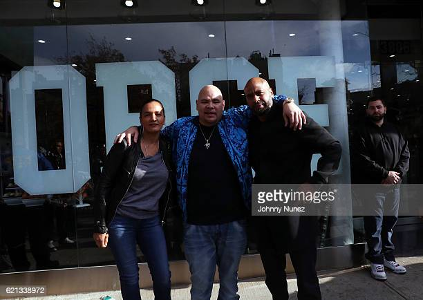 Desiree Perez Fat Joe and Juan 'OG' Perez attend The Grand Opening Of Fat Joe's Sneaker Boutique and Gallery at UPNYC on November 5 2016 in New York...
