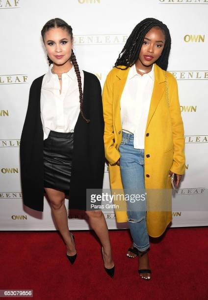 Desiree Ross and Lovie Simone attend Greenleaf Season 2 Premiere Party at W Atlanta Midtown on March 13 2017 in Atlanta Georgia