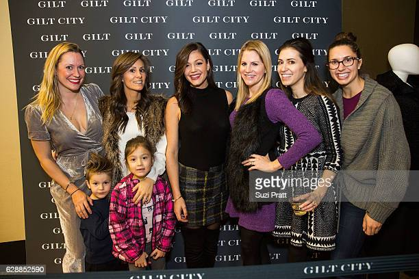 Desiree Siegfried poses for a photo with friends at the Gilt City Sample Sale on December 9 2016 in Seattle Washington