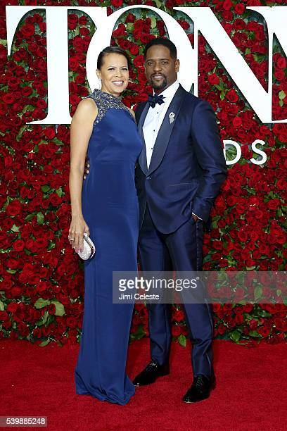 Desiree Underwood and Blair Underwood attend the 2016 Tony Awards Red Carpet at The Beacon Theatre on June 12 2016 in New York City