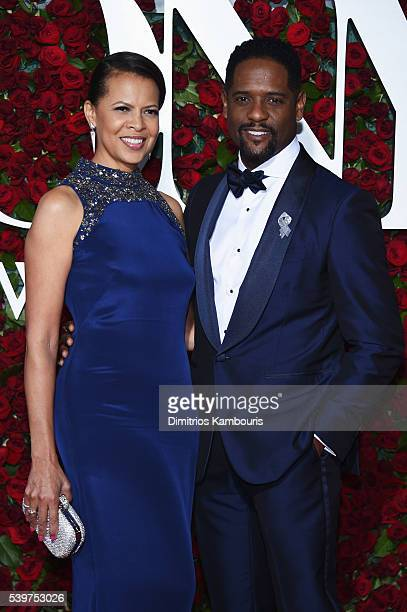 Desiree Underwood and Blair Underwood attend the 70th Annual Tony Awards at The Beacon Theatre on June 12 2016 in New York City