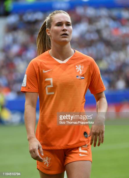 Desiree Van Lunteren in action for the Netherlands during the 2019 FIFA Women's World Cup France Final match between The United States of America and...