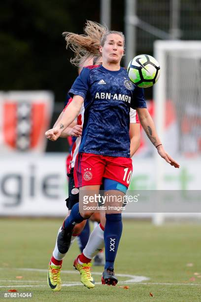 Desiree van Lunteren of Ajax Women during the Dutch Eredivisie Women match between PSV v Ajax at the de Herdgang on November 19 2017 in Eindhoven...