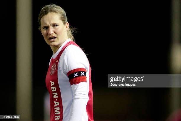 Desiree van Lunteren of Ajax Women during the Dutch Eredivisie Women match between Ajax v PSV at the De Toekomst on February 23, 2018 in Amsterdam...