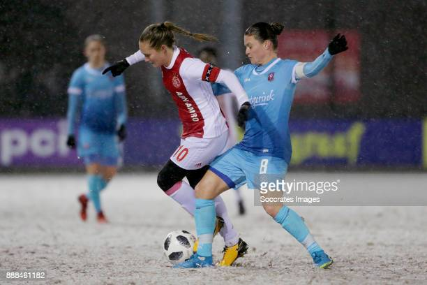 Desiree van Lunteren of Ajax Women Sherida Spitse of FC Twente Women during the Dutch Eredivisie Women match between Ajax v Fc Twente at the De...