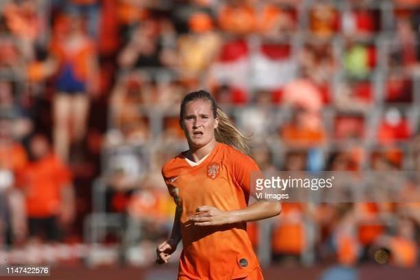 Desiree van Lunteren of Holland during the women's international friendly match between The Netherlands and Australia at Philips stadium on June 01...