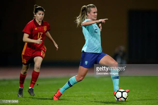 Desiree van Lunteren of Holland Women during the Algarve Cup Women match between Spain v Holland at the Estadio Municipal da Bela Vista on February...