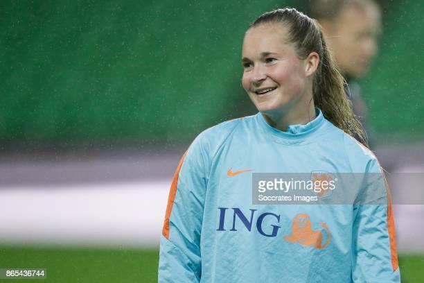 Desiree van Lunteren of Holland Women during the match between Training Holland Women at the Noordlease stadium on October 23 2017 in Groningen...