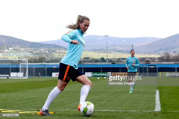 Desiree van Lunteren of Holland Women during the Training Holland Women at the Tallaght Stadium on April 9 2018 in Dublin Ireland