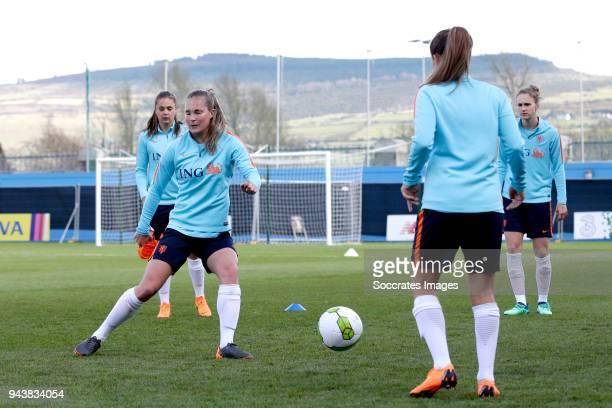 Desiree van Lunteren of Holland Women during the Training Holland Women at the Tallaght Stadium on April 9, 2018 in Dublin Ireland