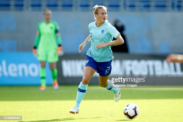Desiree van Lunteren of Holland Women during the World Cup Qualifier Women match between Norway v Holland at the Intility Arena on September 4 2018...