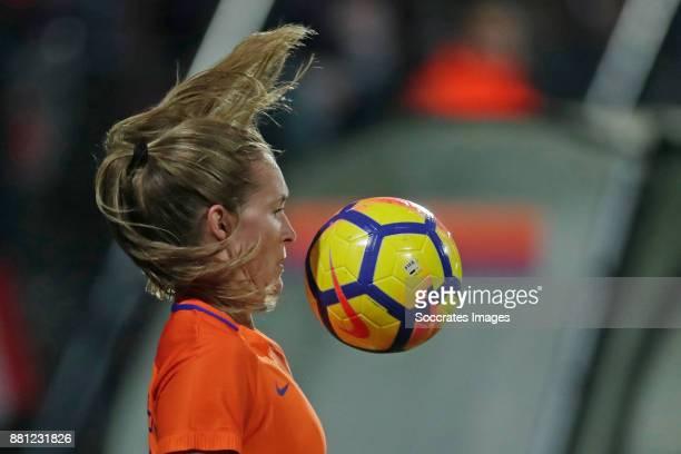Desiree van Lunteren of Holland Women during the World Cup Qualifier match between Holland v Republic of Ireland at the Goffert Stadium on November...