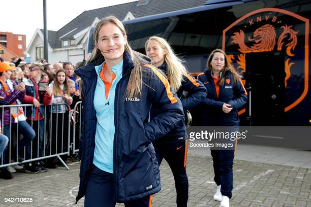 Desiree van Lunteren of Holland Women during the World Cup Qualifier Women match between Holland v Northern Ireland at the Philips Stadium on April...