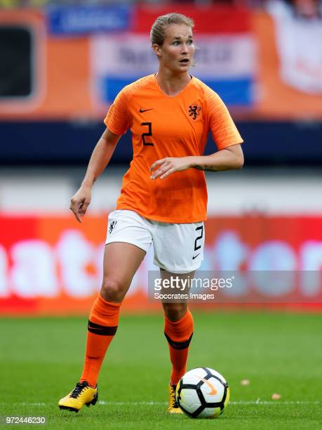 Desiree van Lunteren of Holland Women during the World Cup Qualifier Women match between Holland v Slovakia at the Abe Lenstra Stadium on June 12...