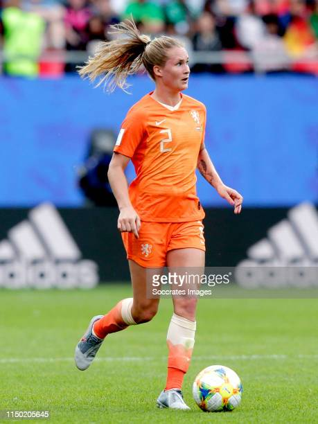 Desiree van Lunteren of Holland Women during the World Cup Women match between Holland v Cameroon at the Stade du Hainaut on June 15, 2019 in...