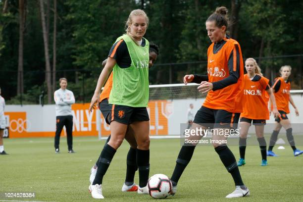 Desiree van Lunteren of Holland Women Merel van Dongen of Holland Women during the Training Holland Women at the KNVB Campus on August 27 2018 in...
