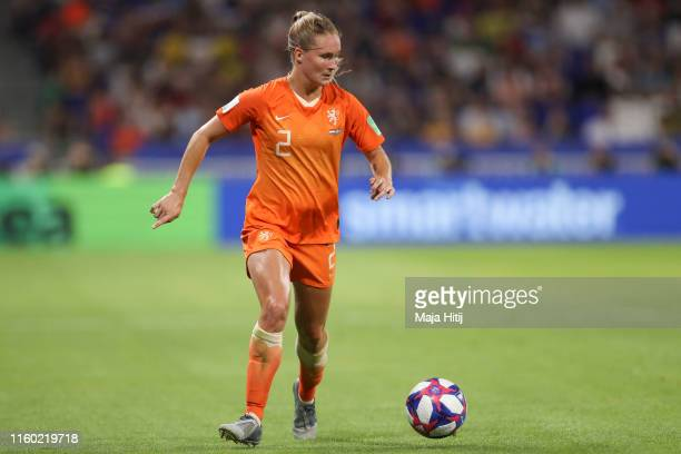 Desiree van Lunteren of Netherlands controls the ball during the 2019 FIFA Women's World Cup France Semi Final match between Netherlands and Sweden...