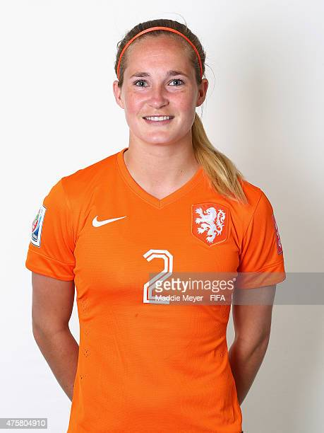 Desiree Van Lunteren of Netherlands during the FIFA Women's World Cup 2015 portrait session at the Delta Edmonton South on June 3 2015 in Edmonton...