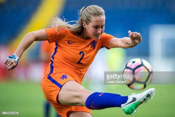 Desiree van Lunteren of Netherlands in action during the Women's International Friendly match between Netherlands and Japan at Rat Verlegh Stadion on...
